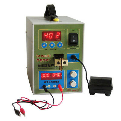 787A+ 18650 Battery Micro-computer Pulse Spot Welding Machine Welder 220V