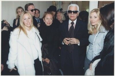 MODE - Karl LAGERFELD -  MILLER FAMILY Photo Presse Originale DEFILE CHANEL 1999