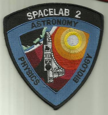 Spacelab 2 Nasa Patch Earth Astronaut Space Shuttle Challenger Science Astronomy