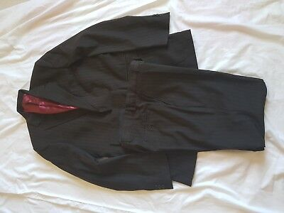 "Mens Limehaus Black Stripe Suit   40"" Chest    34/33.5 Trousers"
