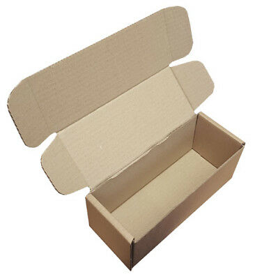 Small Parcel Brown Die Cut Cardboard Postal Mailing Boxes 225mm x 90mm x 90mm