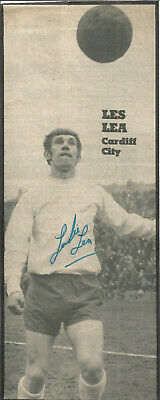 Football Autograph leslie Lea Signed Newspaper Photograph & Bio Sheet F329