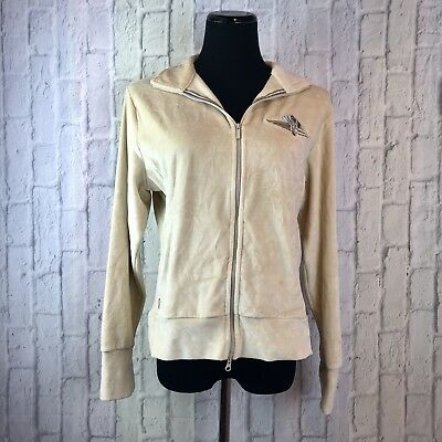 a44f29a81779 Nike Golf Velour Track Jacket Womens Large L Indianapolis Motor Speedway  Cream