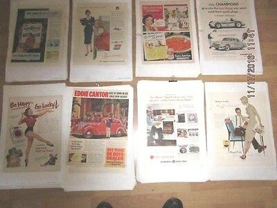 Vintage Magazine ads all Original Sold in lots of 4 your choice from 600 avail.
