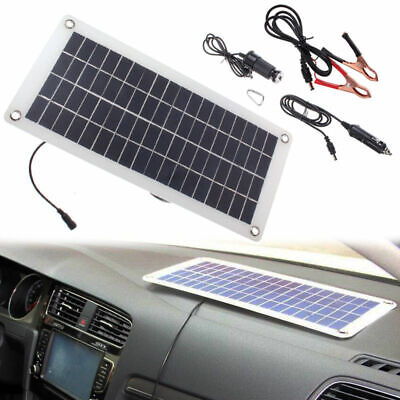 12V Car Boat Yacht Solar Panel Trickle Battery Charger 20W  Outdoor Power Supply
