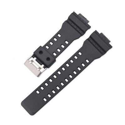 Black Rubber Resin WATCH STRAP Fits G-SHOCK GA-100 G8900 Band Replacement Strap