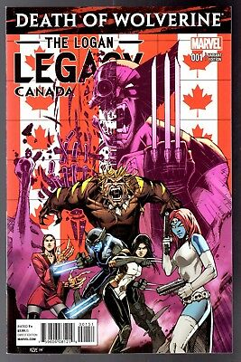 Death of Wolverine The Logan Legacy ( 2014 ) #1 Canadian Variant  NM Unread