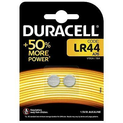 2 x Duracell LR44 1.5V Alkaline Button Cell Battery - A76 AG13 357 V13GA Hexbug