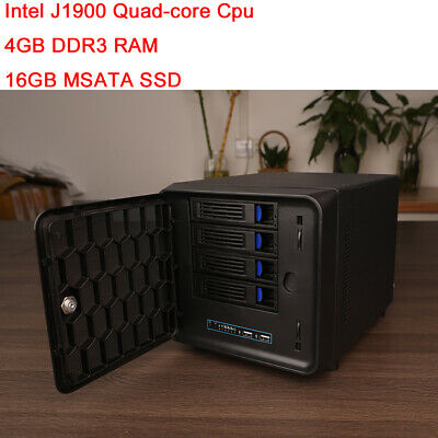 4 Bay NAS Desktop Server with intel J1900 Quad-core cpu 4GB ram for Synology