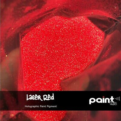LASER RED Holographic Paint pigment - Neon - Hydrographics - Automotive