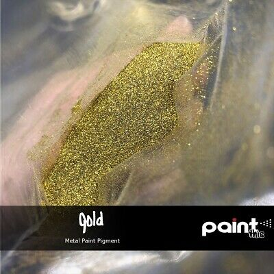 GOLD METAL FLAKE Paint pigment - GLITTER - Hydrographics - Automotive