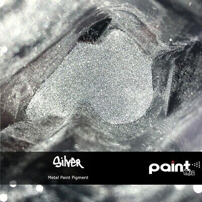 SILVER METAL FLAKE Paint pigment - GLITTER - Hydrographics - Automotive