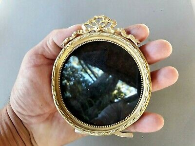 Antique French Ormolu Small Picture Frame Bronze Original 4 3/4 inches