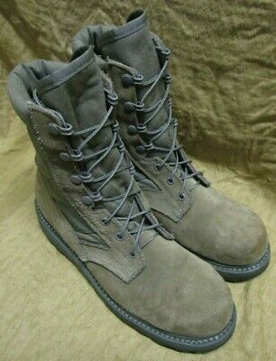 a92b10fa297 US ARMY/USAF THOROGOOD Sage Green Hot Weather Steel Toe Combat Boots. Uk 7  Wide.
