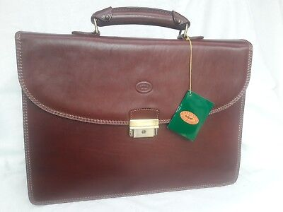 Briefcase/Attache Professional & Diplomat,Adpel #4253 Handcrafted in Italy, New