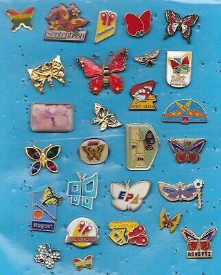 Lot De 27 Pin's Papillon Butterfly Insecte +++++++++++++++++++++++++++++++++++