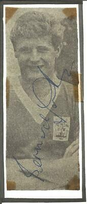 Football Autograph Bunny Larkin Signed Newspaper Photograph & Bio Sheet F376
