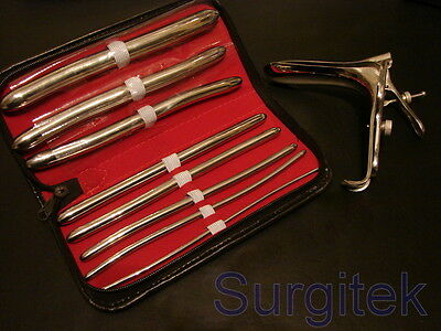 Hegar Urethral Sounds dilator kit Graves Vaginal Speculum Small New Brand