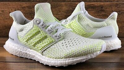 new product 8a4b0 485df Adidas Ultraboost Clima Running Shoes Aq0481 White Solar Yellow Ultra Boost