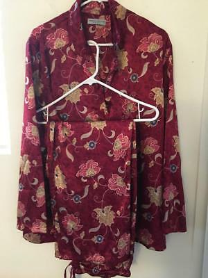 Valerie Stevens women's night wear pajama set size XL ,Made in HongKong