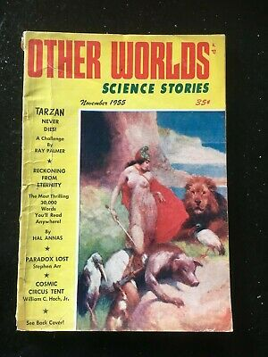 Other Worlds US SF Pulp - Nov 1955 - Ray Palmer on Tarzan, J. Allen St. John cvr