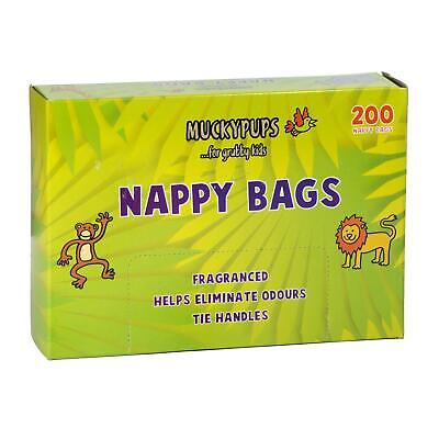 Muckypups Disposable Nappy Bags Fragranced & Tie Handles (800 Nappy Bags)