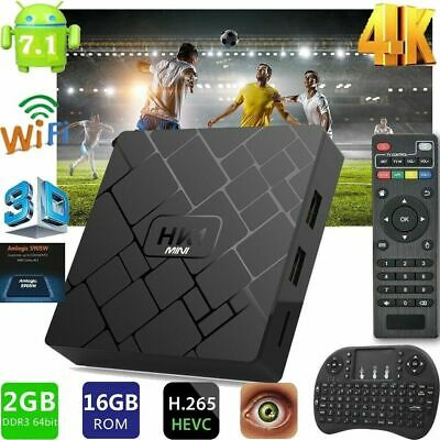HK1 mini S905W 2GB+16GB Android 7.1.2 Quad Core Smart TV Box+Air Mouse Keyboard