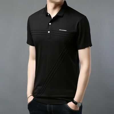 Men Shirts Casual Short Sleeve Retro Slim Stand Collar Business Solid Cotton Hot
