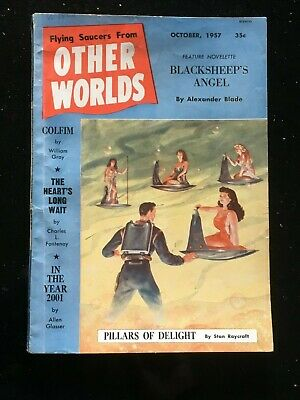 Other Worlds US SF Pulp - Oct.1957 - Flying Saucers, Ray Palmer etc