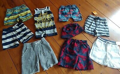 368cdb39317 Lot of Baby Boy 12-18 Months Summer Clothes Shorts Romper Swim Tea Gymboree