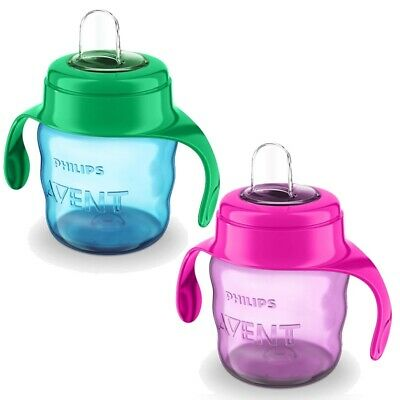 Philips Avent Easy Sippy Cup 200ml 6m+ CHOICE OF COLOUR - BOYS/GIRLS (A20)
