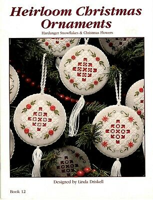 Hardanger Embroidery Pattern Book HEIRLOOM CHRISTMAS ORNAMENTS Book 12