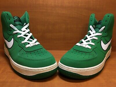 2009 NIKE AIR Force 1 White and Green Size 11 Mens 315122