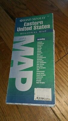 1993 Rand McNally Eastern United States Regional Road Map Vintage highway hiway