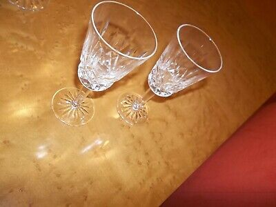 """Waterford Crystal Lismore 5.25"""" Small Liqueur Cordial Stem Glasses"""