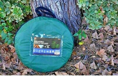Heavy Duty Collapsible Reusable Gardening and Landscaping Bag w/Zip Lid Green