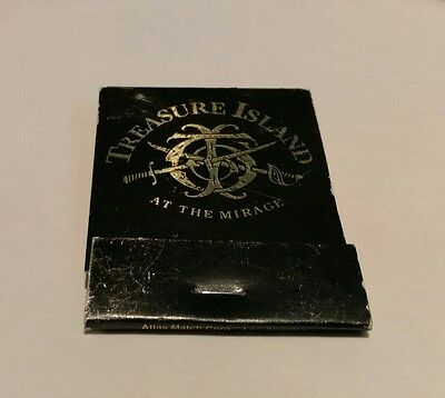 MIRAGE Casino Las Vegas Nevada NV Vintage Treasure Island At The old  Matchbook