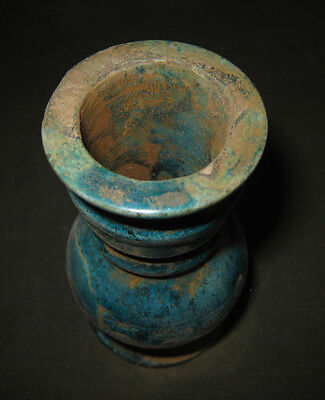 Egyptian Hand Made Hard Stone Cosmetic Vessel With Royal Cartouche