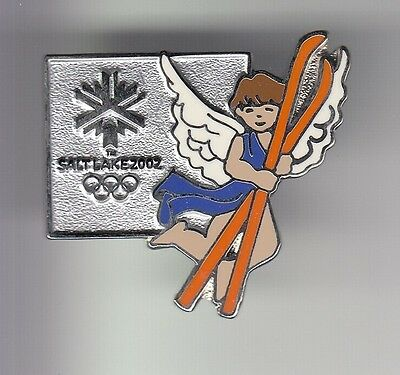 Rare Pins Pin's .. Olympique Olympic Jeux 2002 Sport Ski Ange Salt Lake Usa ~17