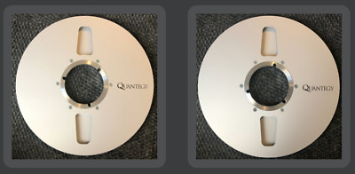 """Quantegy 10.5"""" Pro Reel for 1/4"""" Magnetic Recording Tape w/ Storage Box Pair"""