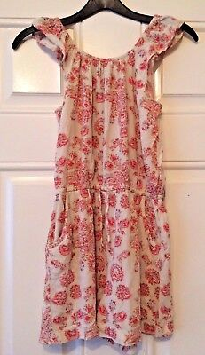 Girls Next Playsuit Beige Pink Floral All In One Summer Beach Age 9 Years B11