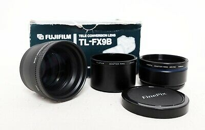 Official FUJIFILM FUJI TELE CONVERSION LENS TL-FX9B with adapters Finepix etc