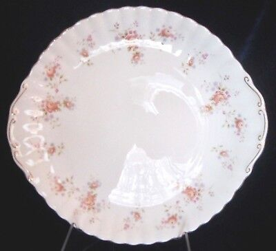 Royal Albert Peach Rose Bone China Handled Serving Plate - England - 10.5 inches