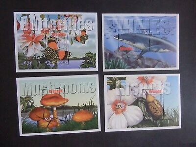 Grenada 2002 Flora Fauna Whales Butterfly Insect MS4798 MS MNH unmounted mint