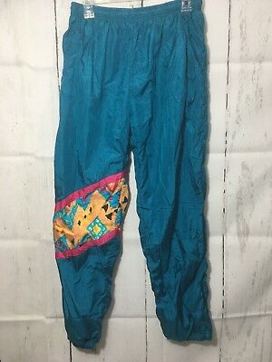 Women's 80s Funky Hip Hop Wind Pants Track Swishy Costume Large
