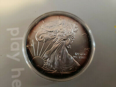 LOT OF 4 - 2015 1 OZ AMERICAN SILVER EAGLE BU .999  Toned