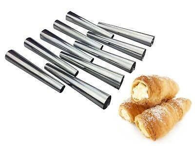 Set Of 14 430 Stainless Steel Tubes Cannoli Pastry Forms Molds-5 Inch A4H8A4H8
