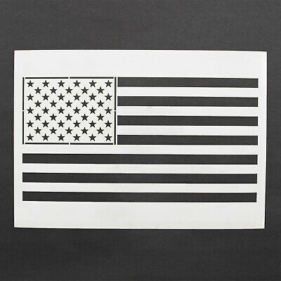 American Flag Stencil MYLAR Sheet 190 Micron Reusable Plastic USA Craft Stencil