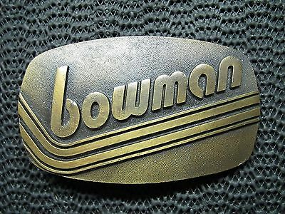 BOWMAN TRUCKING BELT BUCKLE! VINTAGE! VERY RARE! USA! 1980s! LOOK!