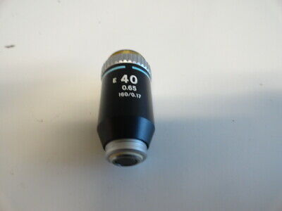 Nikon E 40x 0.65 160/0.17 Microscope Objective Alphaphot Optiphot Labophot